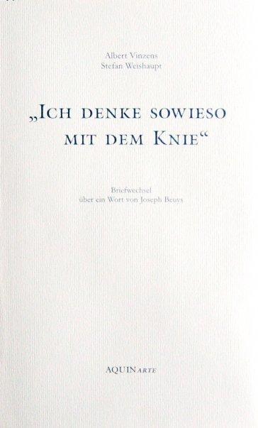Buchcover Ich denke sowieso mit dem Knie